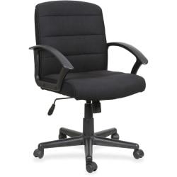 Lorell® Soho Fabric Task Chair, Black