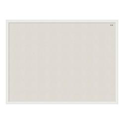 "U Brands Linen Bulletin Board, 40"" X 30"", White MDF Decor Frame"