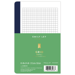 "Emily Ley Simplified® System Notes Refill, Grid, 5 3/8"" x 8 1/2"", Undated"