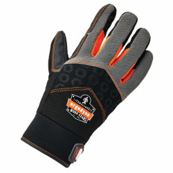 Ergodyne ProFlex 9001 Full-Finger Impact Knit Gloves, Large, Black