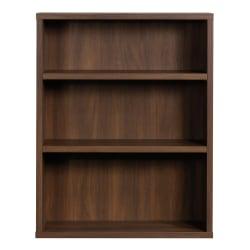 "Sauder® Optimum Bookcase, 45"", 3 Shelves, Spiced Mahogany"