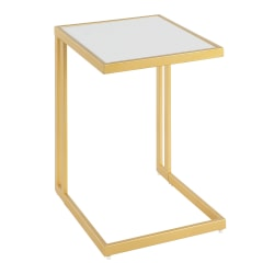 Lumisource Roman Side Table, Gold/White