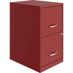 """Lorell® SOHO 18""""D 2-Drawer Lateral File Cabinet, Red"""