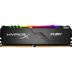 HyperX FURY RGB - DDR4 - module - 8 GB - DIMM 288-pin - 3600 MHz / PC4-28800 - CL17 - 1.35 V - unbuffered - non-ECC - black