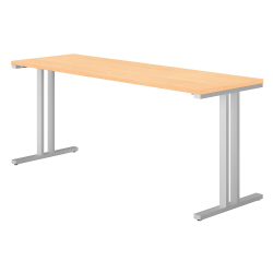 """Bush Business Furniture 400 Series Training Table, 72""""W x 24""""D, Natural Maple, Standard Delivery"""