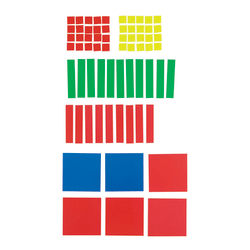 Learning Resources® Magnetic Algebra Tiles, Grades 6 - 12, Pack Of 72