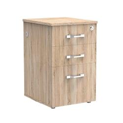 "Forward Furniture Allure 18""D Vertical 3-Drawer Filing Cabinet, Sunlight Ash/Brown"