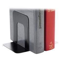 Business Source Heavy-gauge Steel Standard Book Supports, Black