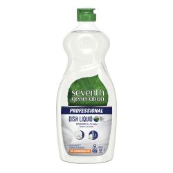 Seventh Generation™ Professional Free And Clear Dishwashing Liquid, 25 Oz, Carton Of 12 Bottles