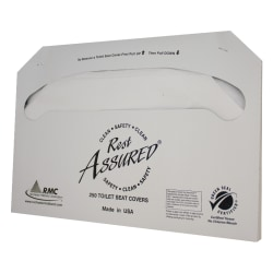 Rest Assured® Toilet Seat Covers, 100% Recycled, White