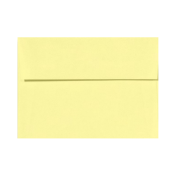 "LUX Invitation Envelopes With Peel & Press Closure, A9, 5 3/4"" x 8 3/4"", Lemonade Yellow, Pack Of 50"