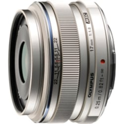 Olympus M.ZUIKO DIGITAL - 17 mm - f/1.8 - Wide Angle Lens for Micro Four Thirds - 46 mm Attachment - 0.08x Magnification