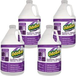 OdoBan Deodorizer Disinfectant Cleaner Concentrate - Concentrate Liquid - 128 fl oz (4 quart) - Lavender Scent - 4 / Carton - Purple