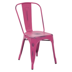Office Star™ Bristow Armless Chair, Antique Pink, Set Of 4 Chairs