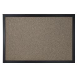 "Office Depot® Brand Cork Bulletin Board, 24"" x 36"", Black Finish Frame"