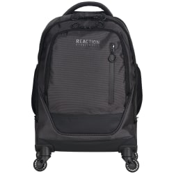 Kenneth Cole Reaction R-Tech Rolling Laptop Backpack, Black/Silver