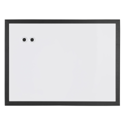 "Realspace™ Magnetic Dry-Erase Whiteboard, 18"" x 24"", Black Finish Frame"