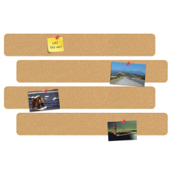 "FORAY™ 10"" Cork Bulletin Bars, Pack Of 4"