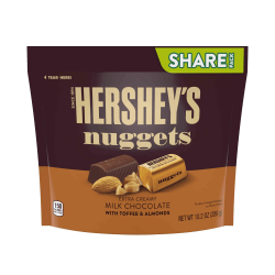 Hershey's® Nuggets Extra Creamy Milk Chocolate With Toffee And Almonds Candy, 10.2 Oz, Pack Of 3 Bags