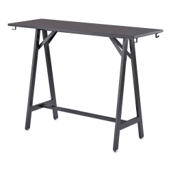 """Safco® Spark Tabletop For Standing-Height Teaming Table, 60"""", Black"""