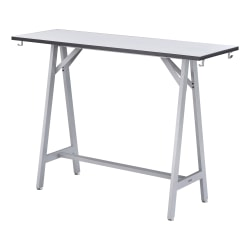"""Safco® Spark Tabletop For Standing-Height Teaming Table, 60"""", White"""
