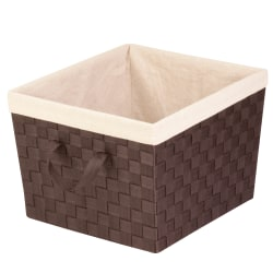 "Honey-Can-Do Task-It Double-Woven Basket With Liner, 15""L x 13""W x 10""H, Espresso"