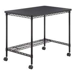 "Safco® 36""W Mobile Wire Desk, Black"