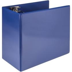 "Samsill® Nonstick Locking View 3-Ring Binder, 6"" Round Rings, Dark Blue"