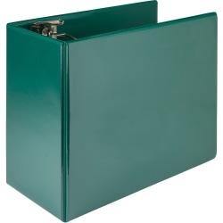 """Samsill® Nonstick Locking View 3-Ring Binder, 6"""" Round Rings, Green"""