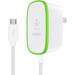 Belkin Home Charger with Hardwired Micro-USB Cable - 5 V DC/2.40 A Output