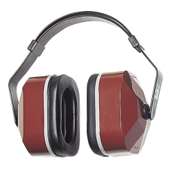 E-A-R Muffs, 25 dB NRR, Maroon, Wear Over Head, Behind Neck, Under Chin