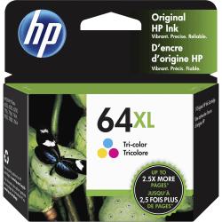 HP 64XL Tricolor High Yield Original Ink Cartridge (N9J91AN)