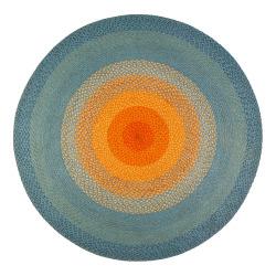 Anji Mountain Olwyn Braided Rug, 4', Multicolor