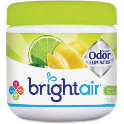 BRIGHT Air® Super Odor™ Eliminator Gel, Zesty Lemon Lime, 14 Oz