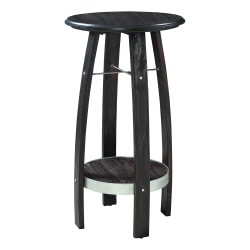 "Powell Damude Round Plant Stand Side Table With Shelf, 36"" x 20"", Rich Brown"