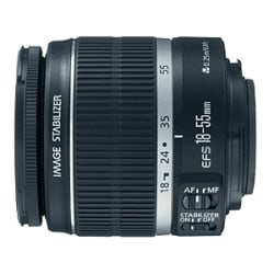 Canon EF-S 18-55mm f/3.5-5.6 IS Zoom Lens - f/3.5 to 5.6