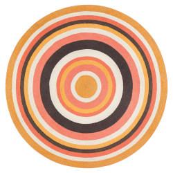 "Anji Mountain Derby Round Area Rug, 48"", Multicolor"