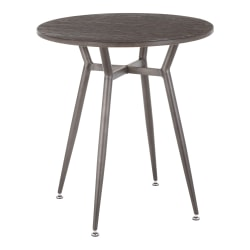 "LumiSource Clara Industrial Dinette Table, 30-1/4""H x 27-3/4""W x 27-3/4""D, Antique Metal/Espresso"