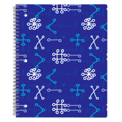 "Office Depot® Brand Fashion Notebook, 8-1/2"" x 10-1/2"", Wide Ruled, 160 Pages (80 Sheets), Math"