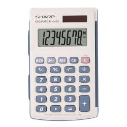 Sharp® EL-243SB 8-Digit Pocket Calculator, Gray/Blue