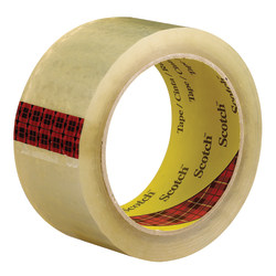 "3M™ 3743 Carton Sealing Tape, 3"" Core, 2"" x 55 Yd., Clear, Case Of 6"
