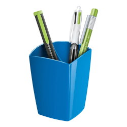 "CEP Large Gloss Pencil Cup, 3-13/16"" x 3"", Blue"