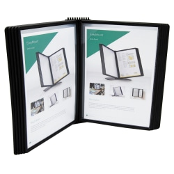 Tarifold 10 Pocket Easy-Load Wall Display Unit, Black #EZW771