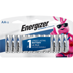 Energizer Ultimate Lithium AA Batteries - For Mouse, LED Light, Laser Level, Stud Finder - AA - 144 / Carton