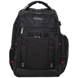 """Kenneth Cole Reaction Computer Business Backpack With 15.6"""" Laptop Pocket, Black"""