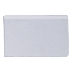 "Office Depot® Brand Super-Scan Press-On Vinyl Envelopes, Long Side Open, 4"" x 6"", Clear, Pack Of 50 Envelopes"