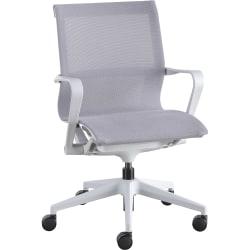 Lorell® Mesh Mid-Back Executive Chair, Gray