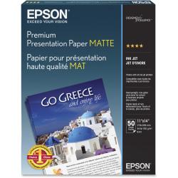 "Epson® Very High Resolution Print Paper, 11"" x 14"", 97 (U.S.) Brightness, 44 Lb, Ream Of 50 Sheets"