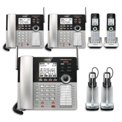 VTech® CM18445 4-Line Small Business Office Phone System, 2 x 3 Bundle