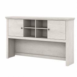"Bush Furniture Yorktown 60""W Desk Hutch, Linen White Oak, Standard Delivery"
